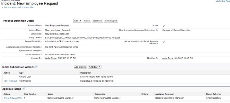 Remedyforce Service Request Approvals On Demand Salesforce  All
